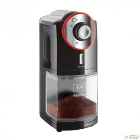 Melitta Molino elektryczny młynek do kawy, czerwony