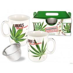 Sagrado, zestaw 2 kubków seria Niebezpieczne narkotyki - Marijuana & Marijuana